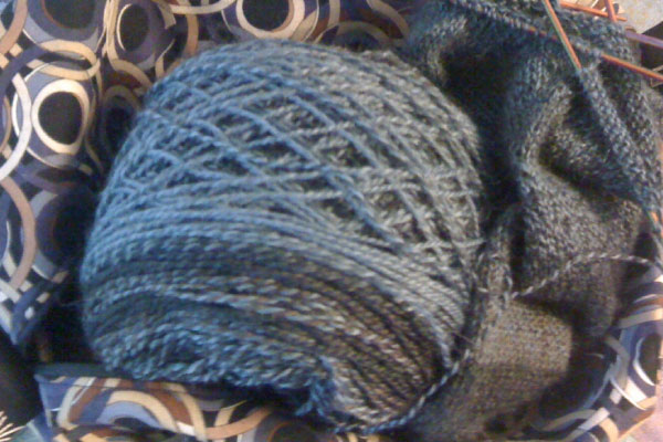 Grey yarn to match the weather.